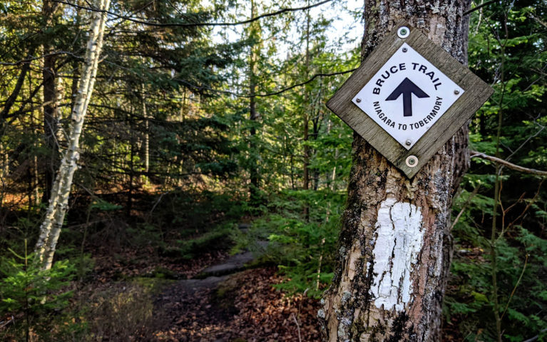 Bruce Trail Signage Along the Trail :: I've Been Bit! Travel Blog
