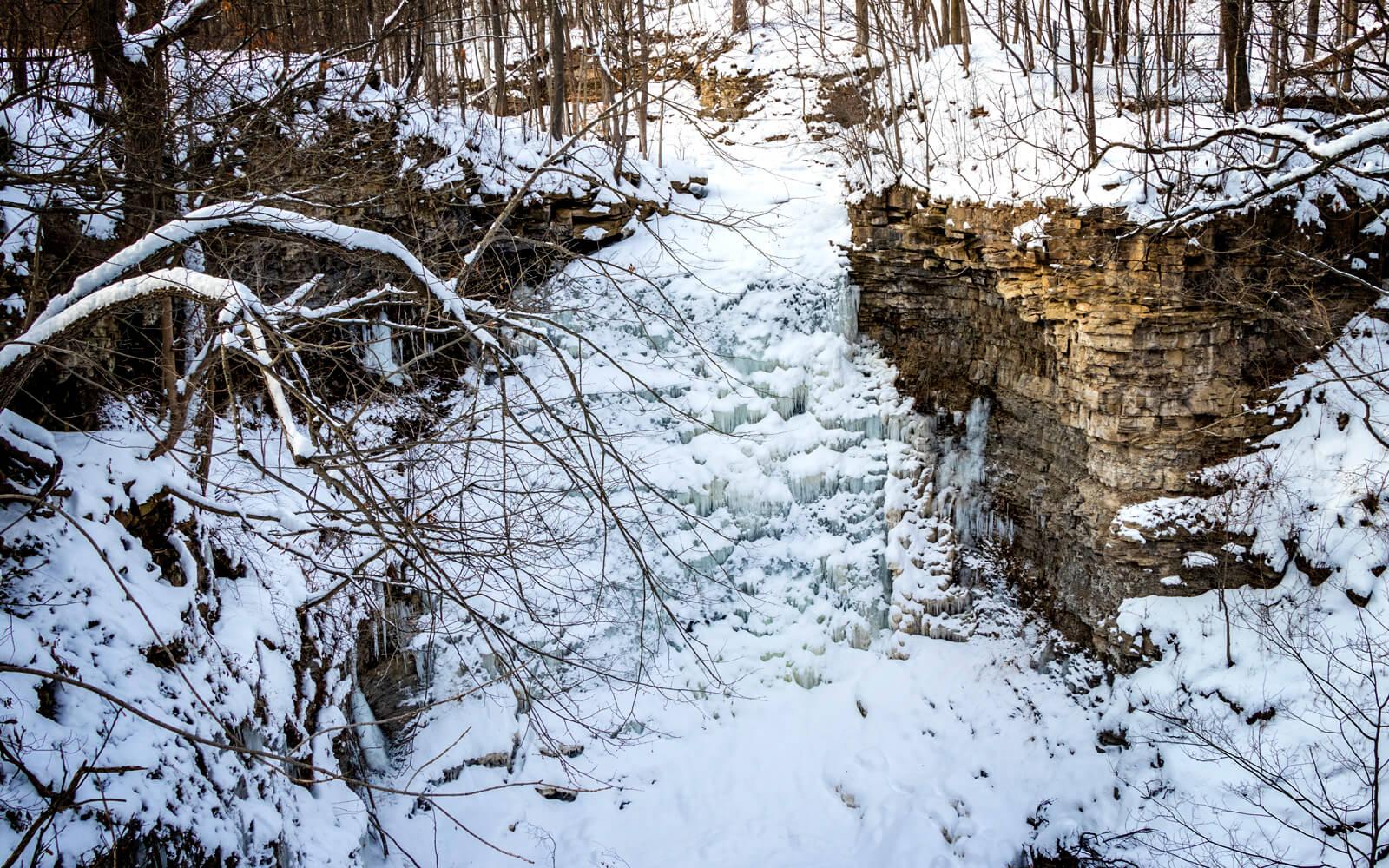 Winter Views of Swayze Falls in Short Hills Provincial Park :: I've Been Bit! Travel Blog