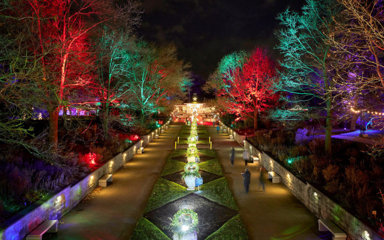 Overhead View of RBG's Hendrie Park during Winter Wonders, Just One Spot for Christmas Lights in Ontario :: I've Been Bit! Travel Blog