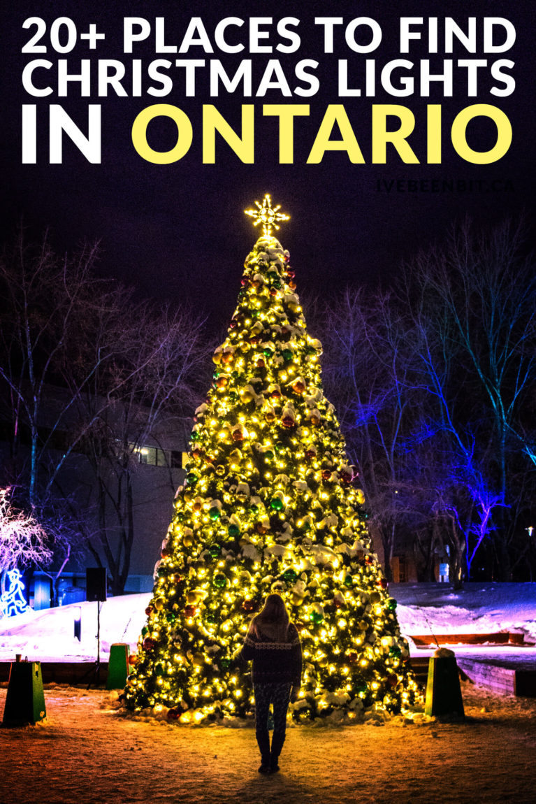 Looking for some festive fun this holiday season? You won't want to miss these Christmas Lights in Ontario! Featuring holiday light festivals in Toronto, Niagara Falls, Blue Mountain and more! | Ontario Christmas | Christmas in Toronto | Niagara Falls Christmas Lights | Christmas in Niagara Falls | Ontario Travel | Ontario Winter Getaway | Where to Go in Ontario at Christmas Time | Where to Go in Ontario in Winter | IveBeenBit.ca