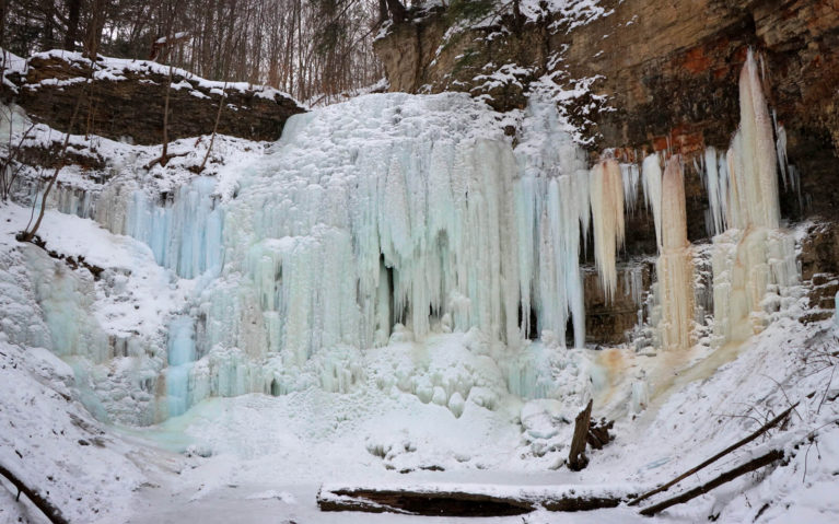 Tiffany Falls Frozen Over :: I've Been Bit! Travel Blog