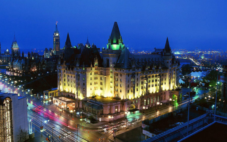 Photo of the Fairmont Chateau Laurier from their Facebook Page :: I've Been Bit! Travel Blog