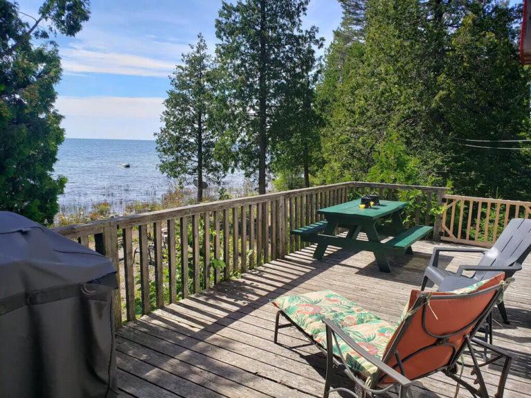 Lake Huron Log Cabin Waterfront View in Manitoulin :: I've Been Bit! Travel Blog