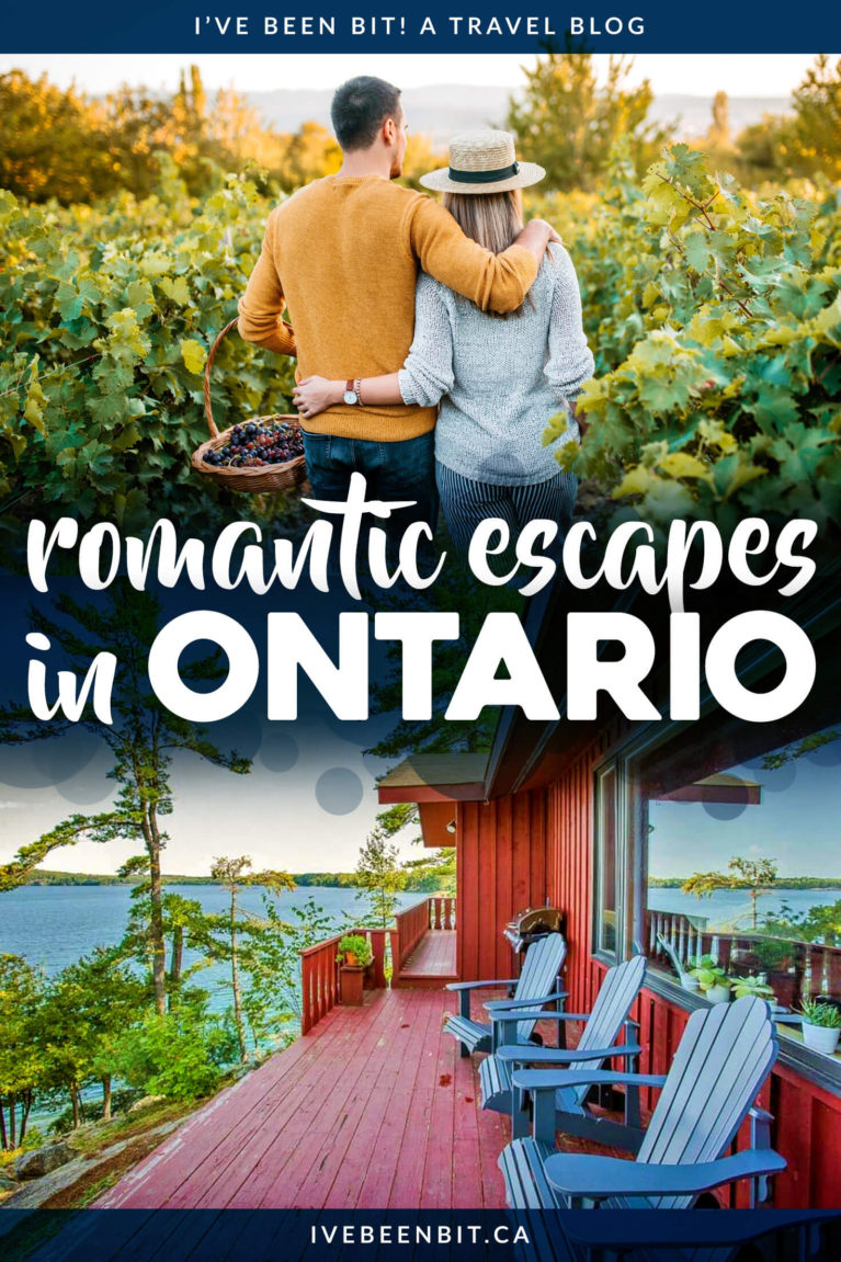 Looking to whisk your loved one away on a memorable adventure? Check out these great ideas for romantic getaways in Ontario! | Romantic Weekend Getaways Ontario | Romantic Winter Getaways Ontario | Romantic Places in Ontario | Romantic Airbnbs in Ontario | Winter Ontario Getaways | Ontario Weekend Getaways | #ValentinesDay #Anniversary #CouplesGetaway | IveBeenBit.ca