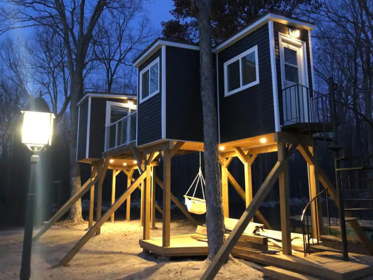 Exterior of the Collabo Camp Treehouse - Image From Airbnb :: I've Been Bit! Travel Blog