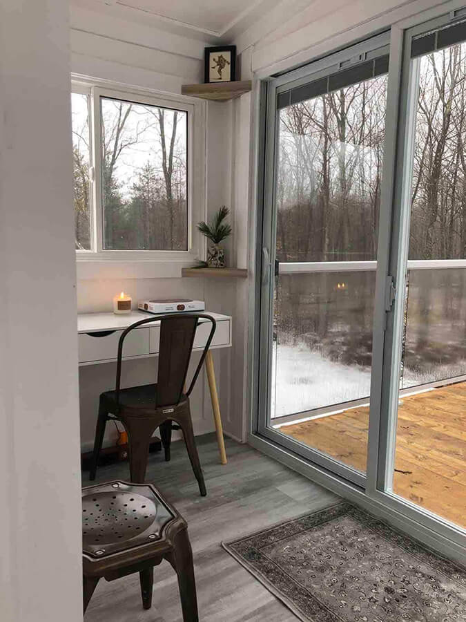 View of Workspace in the Woodpecker Treehouse - Image from Airbnb :: I've Been Bit! Travel Blog