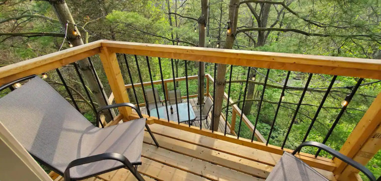 View From Top Patio of the Niagara Region Treehouse - Image From Airbnb :: I've Been Bit! Travel Blog