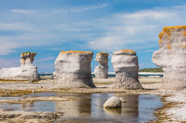 Some of the Monoliths You'll Find at the Mingan Archipelago National Park Reserve - Photo Credit: Mathieu Dupuis/Le Québec maritime