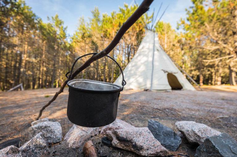 Interpretive Site About Innu Culture - Photo Credit: Mathieu Dupuis/Le Québec maritime