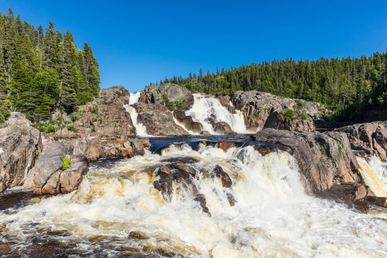 The Majestic Falls Along the Rivière-au-Tonnerre - Photo Credit: Mathieu Dupuis/Le Québec maritime