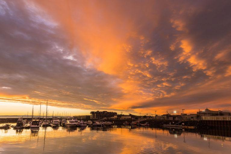 Sept-Îles Marina at Sunset - Photo Credit: Mathieu Dupuis/Le Québec maritime