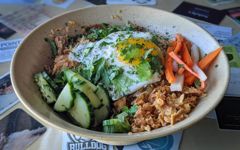 Tasty Bowl of Nasi Goreng at the Smokin' Buddha, One of the Awesome Restaurants in Port Colborne :: I've Been Bit! Travel Blog