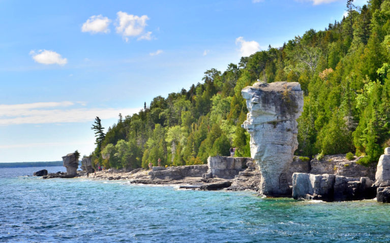 View of the Large Flowerpot From Georgian Bay