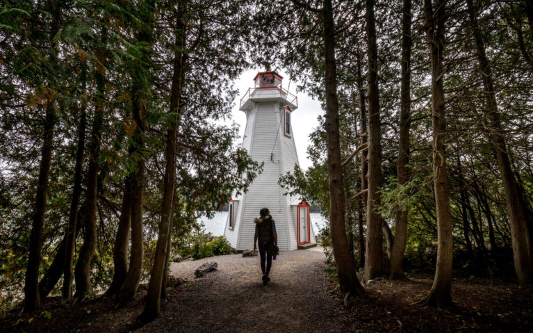 Lindsay Walking Along the Path Towards Big Tub Lighthouse :: I've Been Bit! Travel Blog