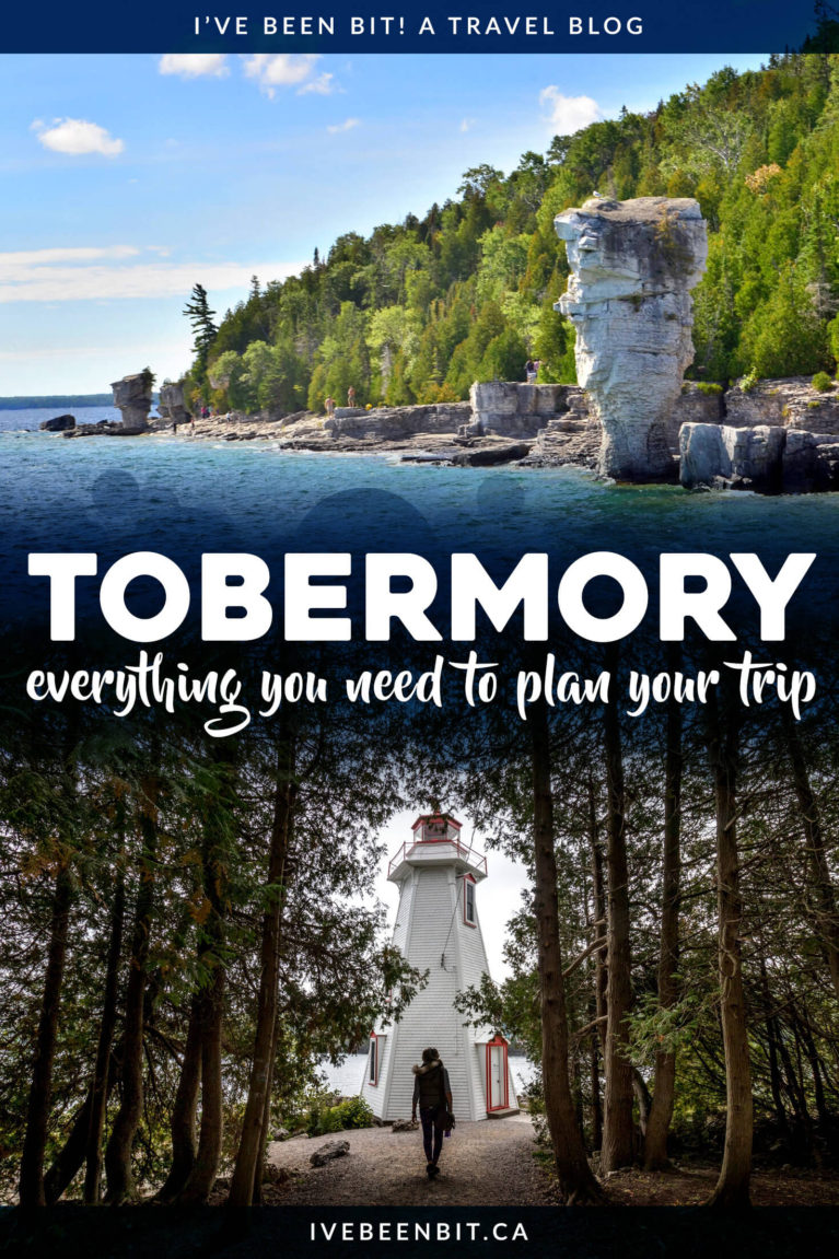 Planning a visit to the Bruce Peninsula? Don't miss these incredible things to do in Tobermory Ontario! | Tobermory Ontario Pictures | Tobermory Canada | Tobermory Ontario Grotto | What to Do in Tobermory | Where to Go in Tobermory | Place to See in Tobermory | Ontario Road Trip | Things to Do in Ontario | Ontario Travel | Weekend Getaways in Ontario | Road Trip to Tobermory | #Tobermory #Summer | IveBeenBit.ca