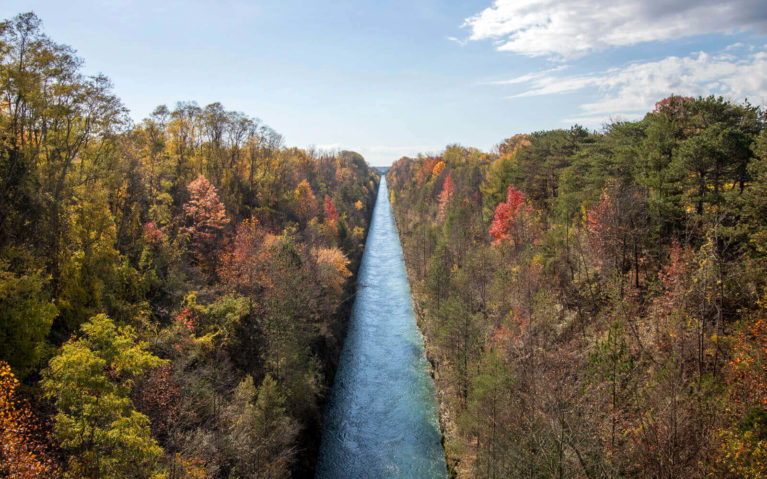 View of the Niagara Falls Hydro Canal Near the Millennium Trail :: I've Been Bit! Travel Blog