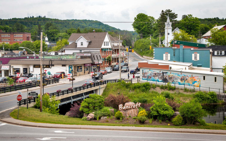 View of Bancroft from the Granite Restaurant's Patio :: I've Been Bit! Travel Blog