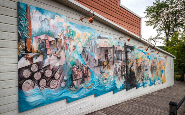 One of the Murals in Bancroft :: I've Been Bit! Travel Blog