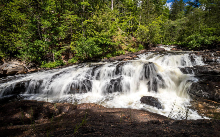 One of the Waterfalls at Egan Chutes Provincial Park :: I've Been Bit! Travel Blog