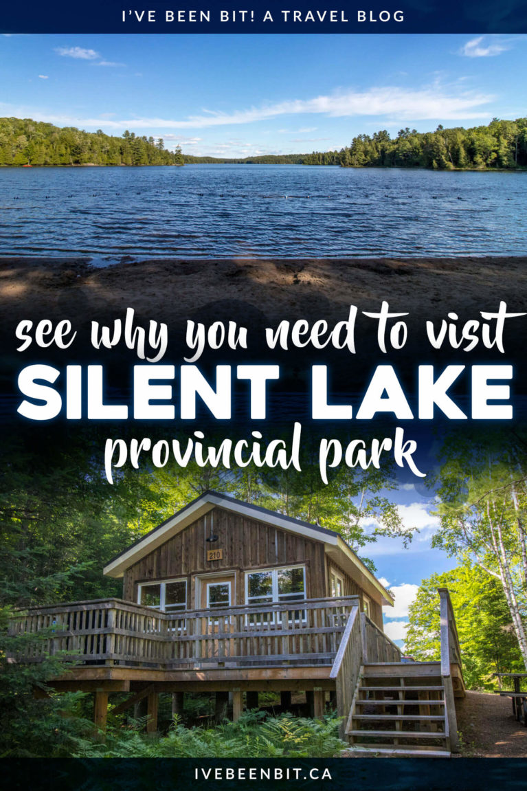 It's one of Ontario's most popular parks for a reason! Check out this epic guide to Silent Lake Provincial Park | Things to Do at Silent Lake Provincial Park | Ontario Parks Camping | Ontario Parks Road Trips | Ontario Provincial Parks | Ontario Parks Cabins | Silent Lake Cabins | Things to Do in Ontario Canada | Things to Do in Ontario This Summer | Ontario Parks Hiking | Ontario Hiking Trails | Kayaking in Ontario | Canoeing in Ontario | #Ontario #Travel #Summer | IveBeenBit.ca