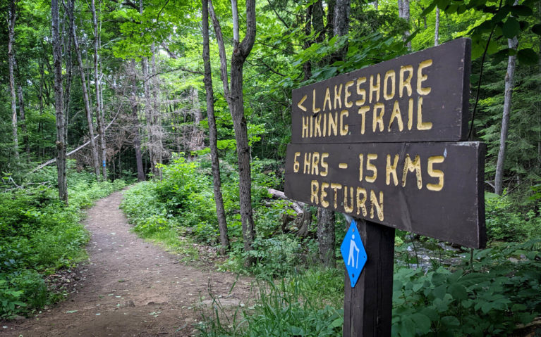 Silent Lake Provincial Park Lakeshore Hiking Trail Sign :: I've Been Bit! Travel Blog