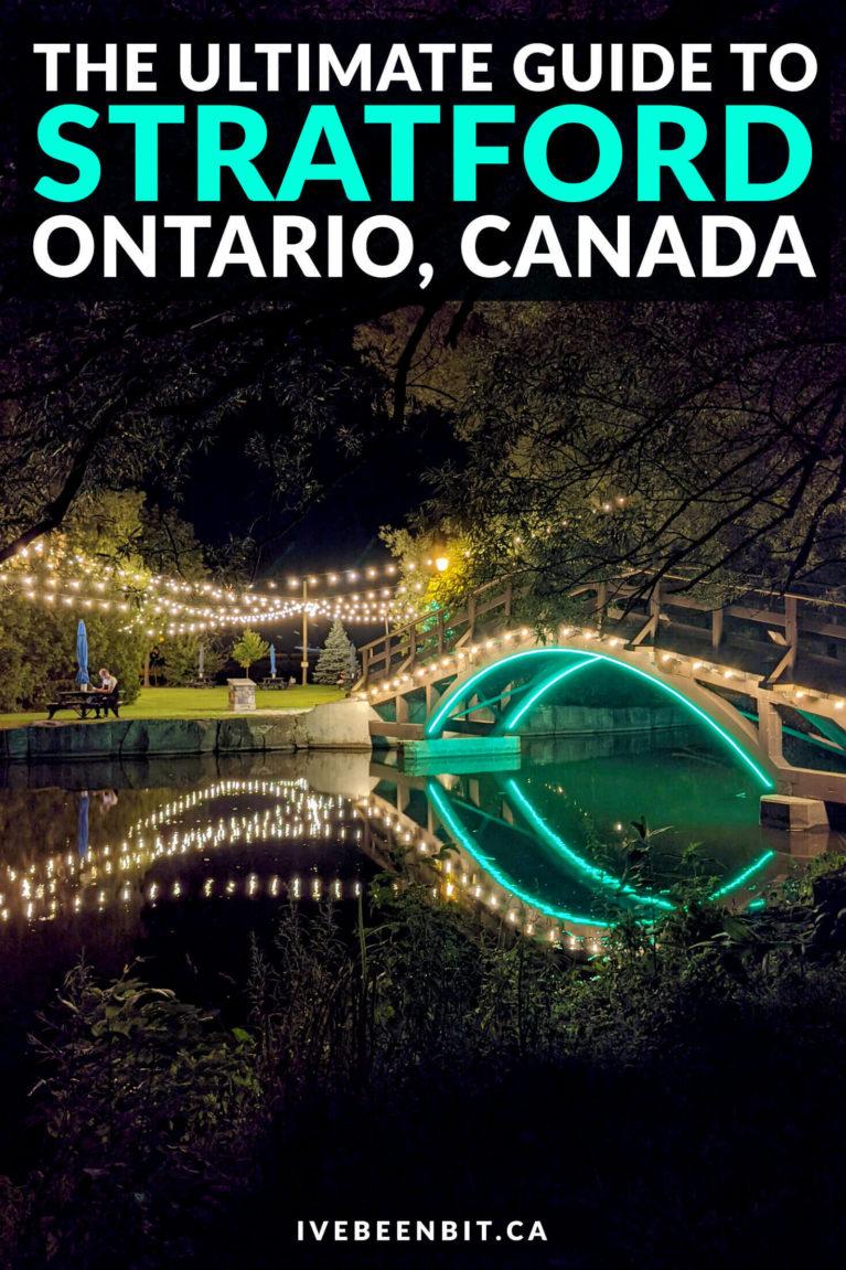Things to Do in Stratford Ontario | Ontario Weekend Getaways Summer | Stratford Ontario Restaurants | Stratford Ontario Things to Do | Ontario Weekend Trips | Weekend Trips in Ontario | Ontario Road Trips | What to Do in Stratford Ontario Canada | Small Town Ontario | Places to Go in Ontario in Summer | Ontario Weekend Trip Ideas | Downtown Stratford | Free Things to Do in Stratford | #Ontario #RoadTrip #Summer | IveBeenBit.ca