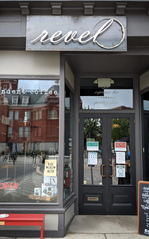 Front of Revel Cafe in Stratford :: I've Been Bit! Travel Blog