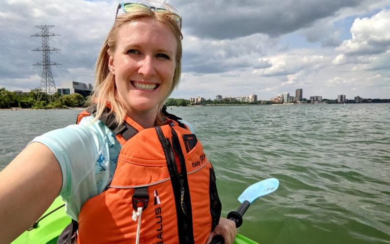 Lindsay Kayaking Lake Ontario from Burlington Beach :: I've Been Bit! Travel Blog