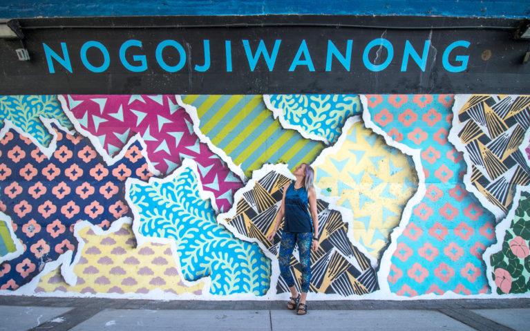 Nogojiwanong Street Art Under the Hunter Street Bridge :: I've Been Bit! Travel Blog
