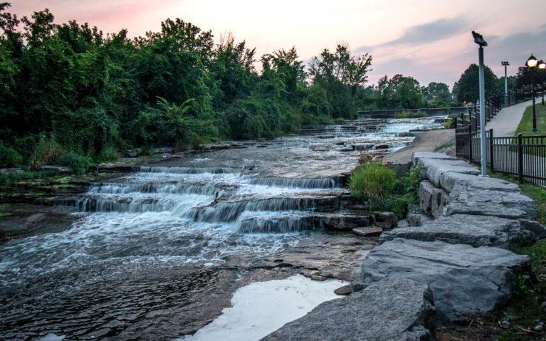 Napanee Falls at Sunset :: I've Been Bit! Travel Blog