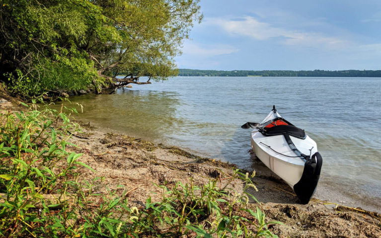 Kayak on the Shores of the Bay of Quinte