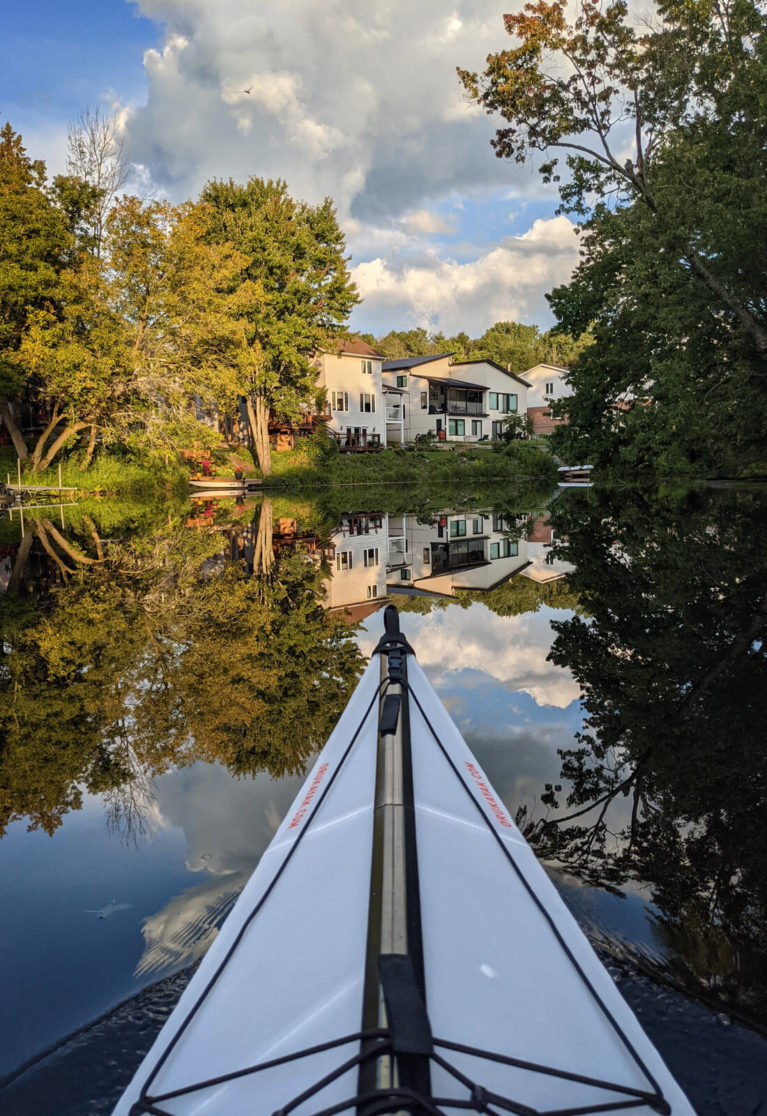 Reflections in the Napanee River from Lindsay's Kayak :: I've Been Bit! Travel Blog