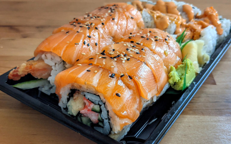 Red Dragon Roll and Spicy Salmon Roll from Sushi Nori in Napanee :: I've Been Bit! Travel Blog