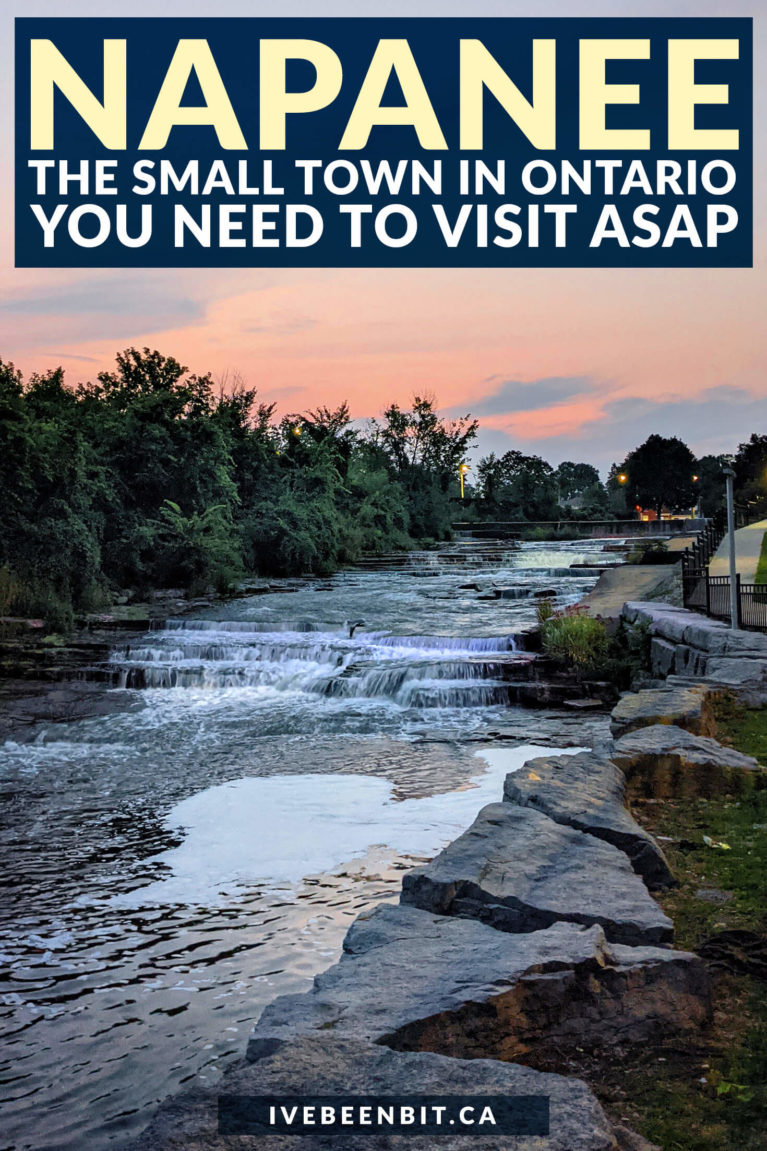 Looking for a fantastic weekend getaway in Ontario? Check out the hometown of Avril Lavigne and all of the great things to do in Napanee Ontario! | Bay of Quinte Ontario | Small Towns to Visit in Ontario | Cute Small Towns Ontario | Best Small Towns Ontario | Ontario Weekend Getaways | Ontario Road Trips | Where to Go in Ontario | Hiking in Ontario | Kayaking in Ontario | Historical Ontario Architecture | #Travel #Ontario #RoadTrip | IveBeenBit.ca