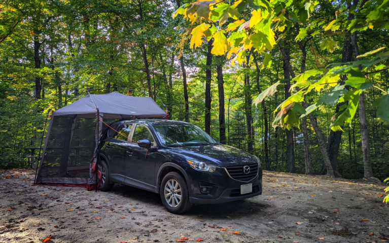 My Camping Set Up at Mikisew Provincial Park :: I've Been Bit! Travel Blog