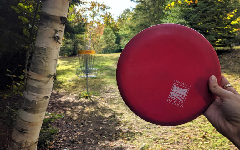 One of the Disc Golf Holes at Mikisew Provincial Park :: I've Been Bit! Travel Blog