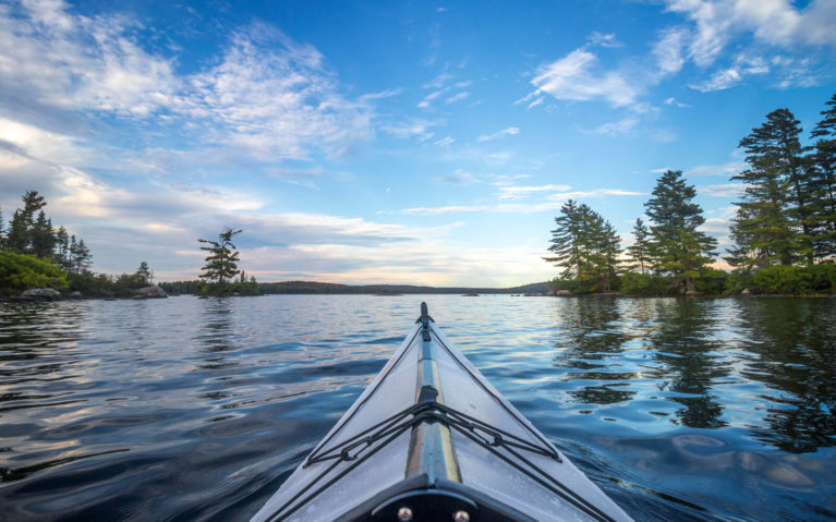 Views of Eagle Lake from the Kayak at Golden Hour :: I've Been Bit! Travel Blog